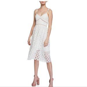 Bardot Louisiana White Lace Midi Dress (XS Size 4)